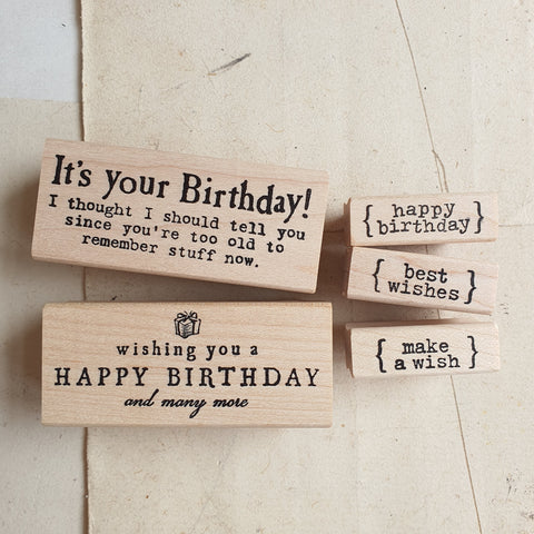 CatslifePress Rubber Stamp - Birthday Series