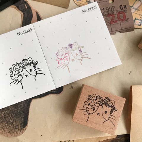 Malis Original Rubber Stamp Set - Cats