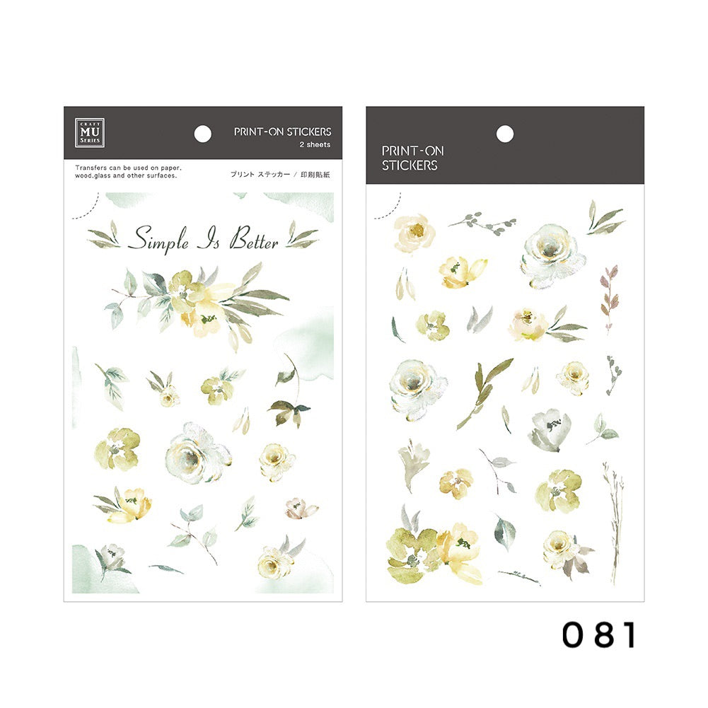 MU Print-On Sticker - Botanical Series VI