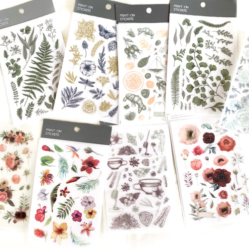 MU Print-On Sticker - Botanical Series IV