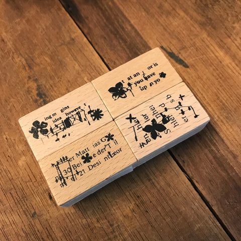 Chamil Garden 5th Anniversary Rubber Stamp Set - Flower