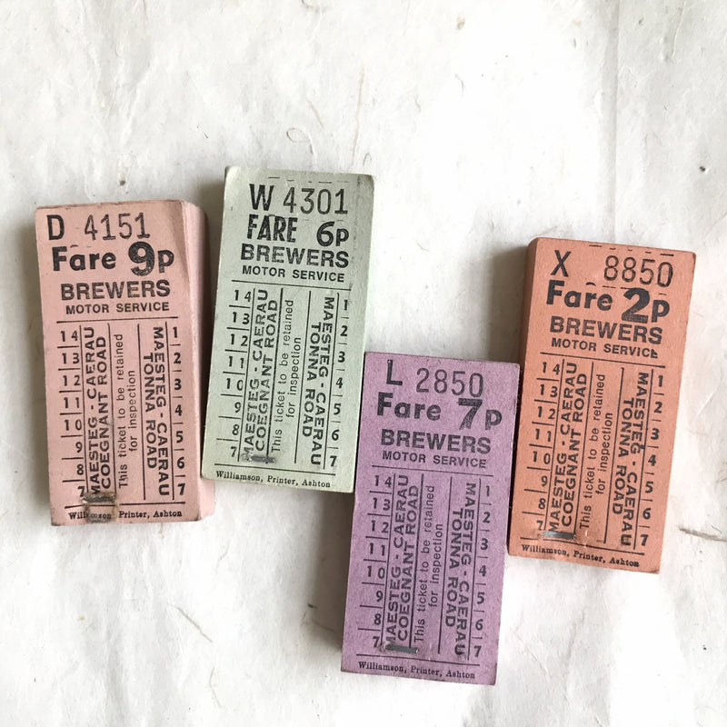 Brewers Motor Service Vintage Ticket Pack (50pcs)