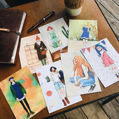 La Dolce Vita Girls Series Postcards