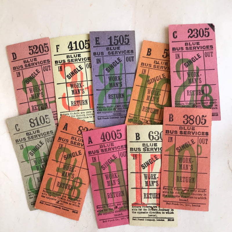 Blue Bus Services Vintage Ticket Pack (50pcs)