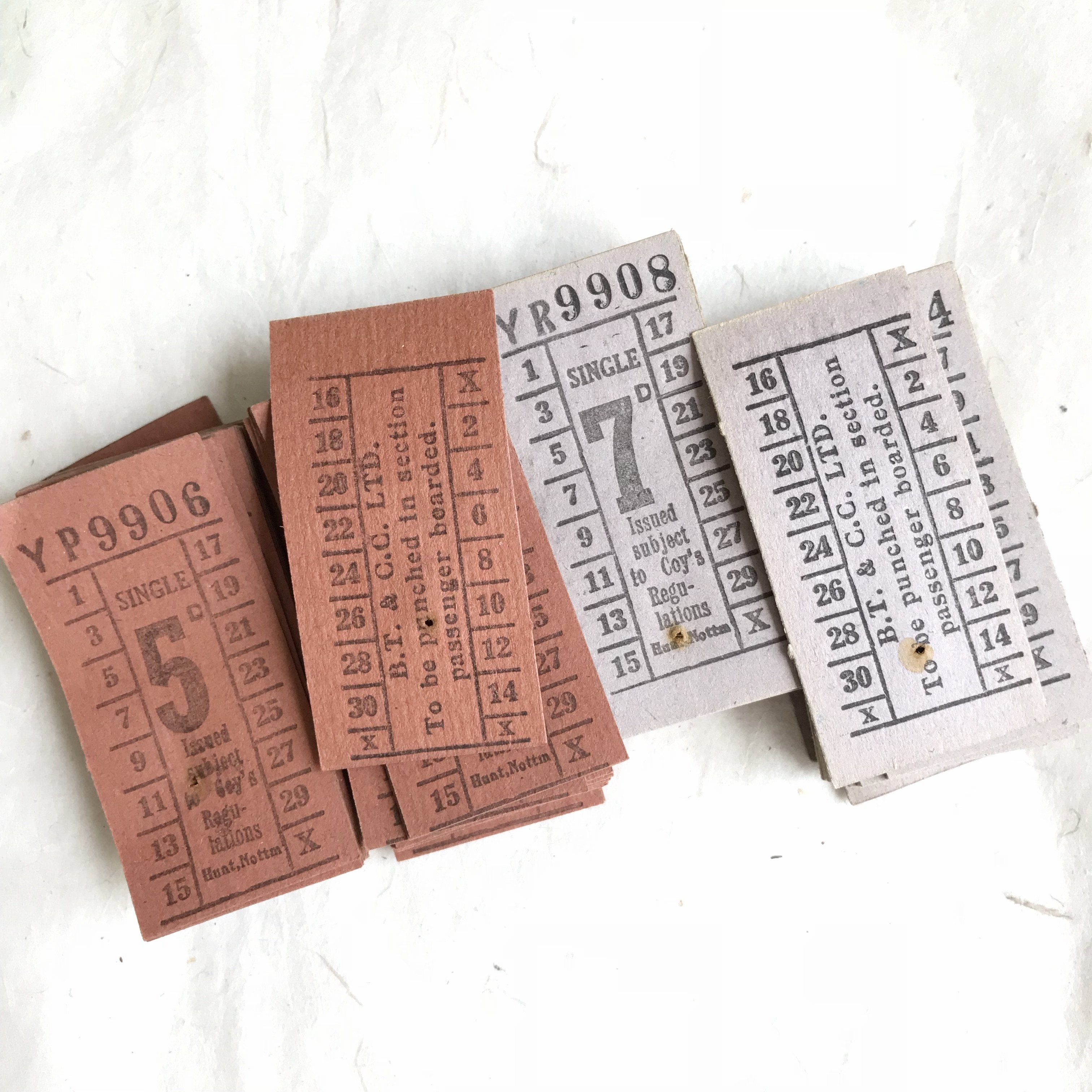 Hunt. Nottingham Vintage Tickets Pack (50pcs)