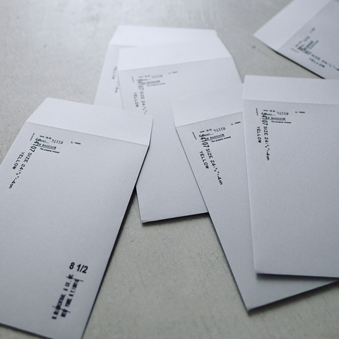 Yohaku Original Letterpress Envelopes