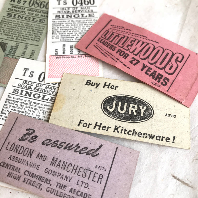 Single Vintage Bell-Punch Ticket Set