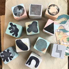 Cement Rubber Stamp - Irregular Shape Series