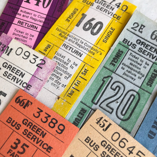 Vintage Ticket Set - Green Bus Services (8pcs)