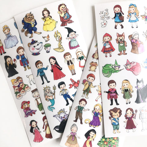 Lallayena Cute Girls Stickers II - Fairy Tales Series