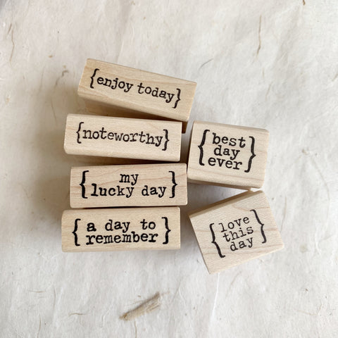 CatslifePress Rubber Stamp - enjoy the day series