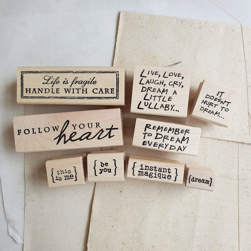 CatslifePress Rubber Stamp - dream/love yourself series