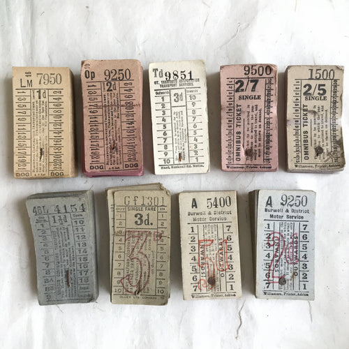 Vintage Bus Ticket Pack (50pcs)