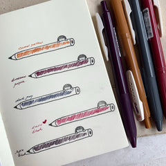[NEW COLOURS] Sarasa Push Clip Gel Pen (0.5mm) - Vintage Series