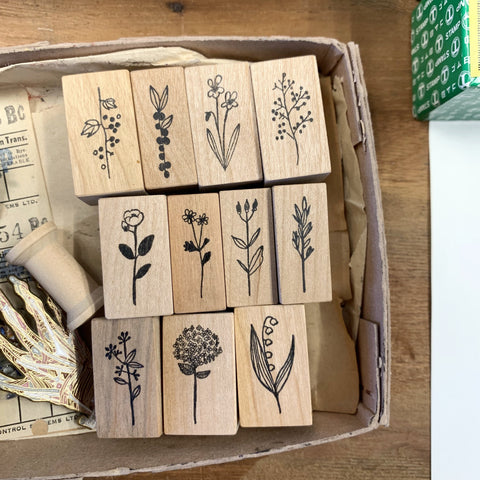 Kojima Inbo Rubber Stamp - Botanical Series