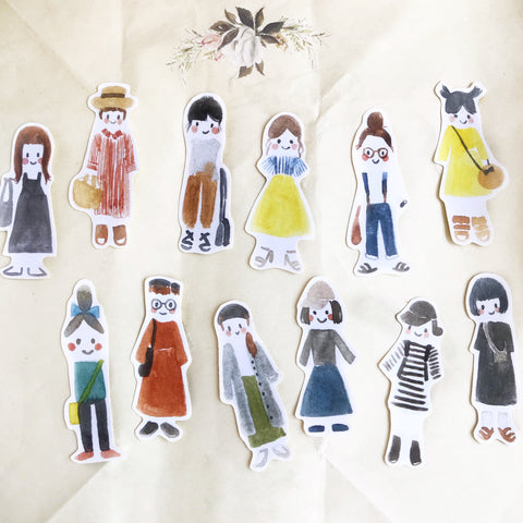 msbulat Little girls Sticker Pack
