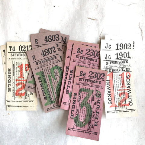 Stevenson's Single/Return Vintage Ticket Set