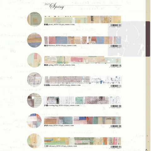 Chamil Garden Washi Tape Collection - Spring