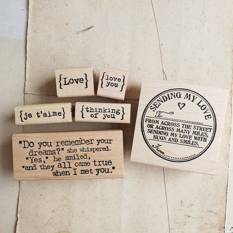 CatslifePress Rubber Stamp - love series