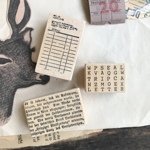Vintage Collection Rubber Stamps