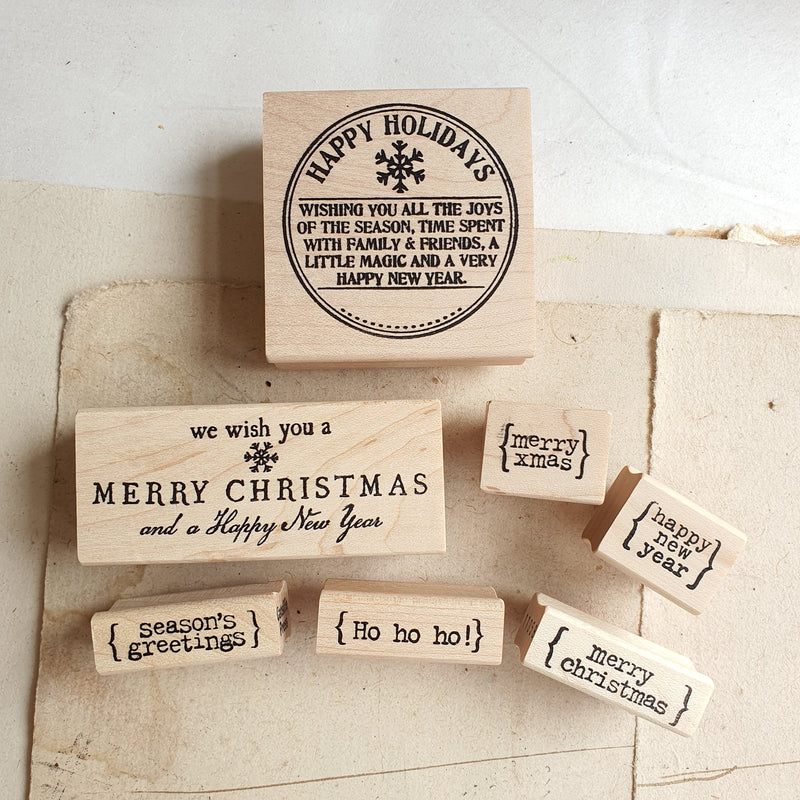 CatslifePress Rubber Stamp - Season Greeting Series