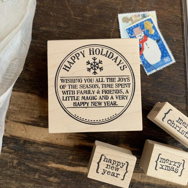 Catslifepress Rubber Stamp - Seasonal Round Seals