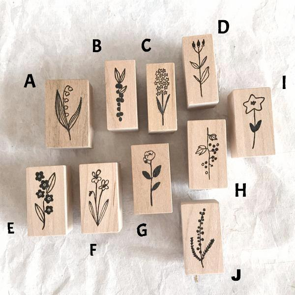 Kojima Inbo Botanical Rubber Stamp Collection