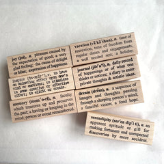 Catslifepress Definition Rubber Stamp