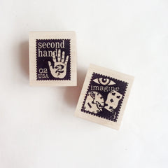 Catslifepress Rubber Stamp - Records & Stamp Seals