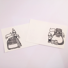 Plain Stationery Ink Rubber Stamps