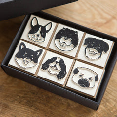 OURS Dog Rubber Stamps Set