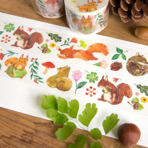 OURS Squirrel Time Washi Tape