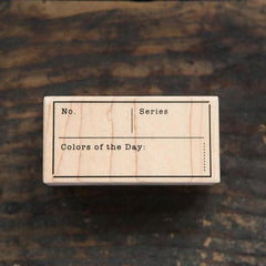 OURS Colour of the Day Rubber Stamp