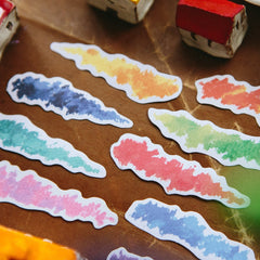 OURS Oil Pastel Sticker Flakes