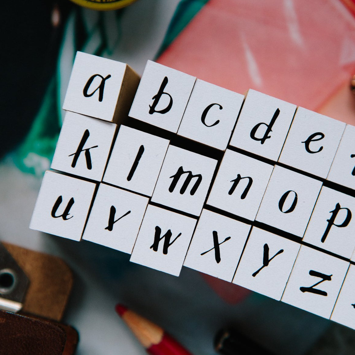 OURS Alphabet Rubber Stamp Set