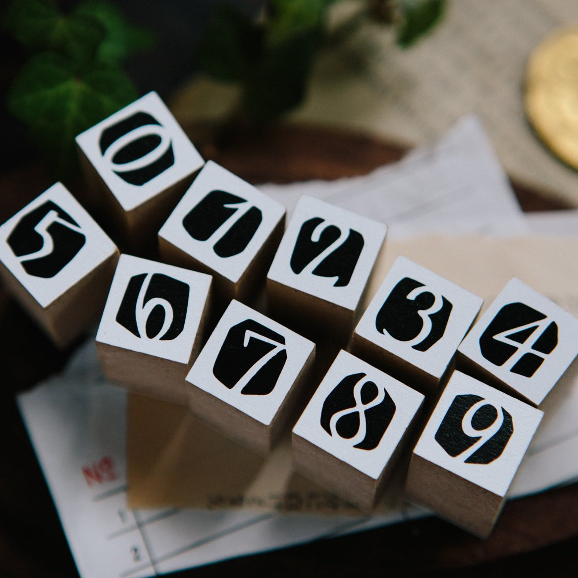 OURS Number Rubber Stamp Set