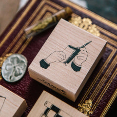 OURS Hand Rubber Stamp Set