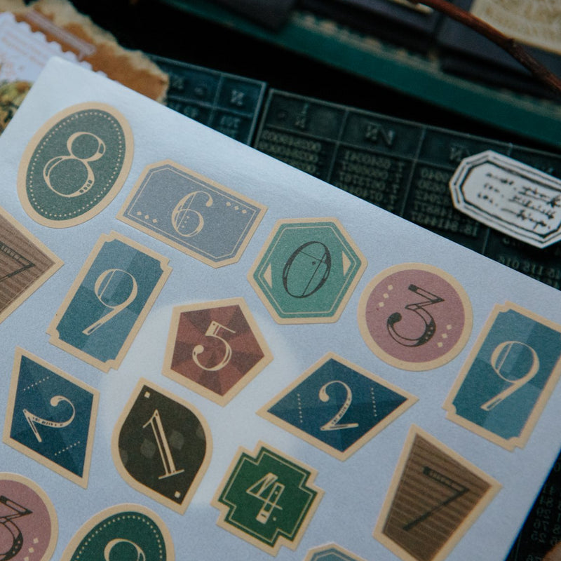 OURS Vintage Number Stickers