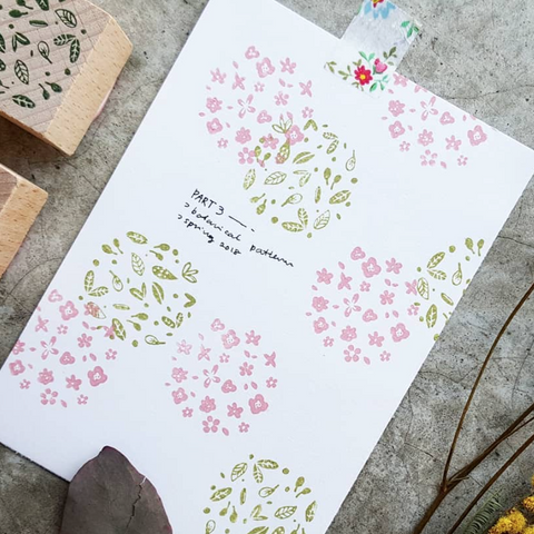[Discontinued] Kurukynki Botanical Pattern Rubber Stamps