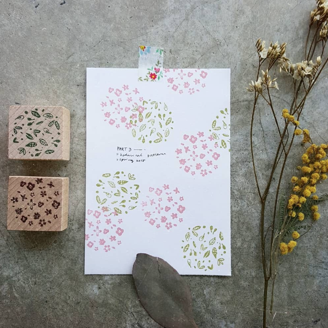 Kurukynki Botanical Pattern Rubber Stamps
