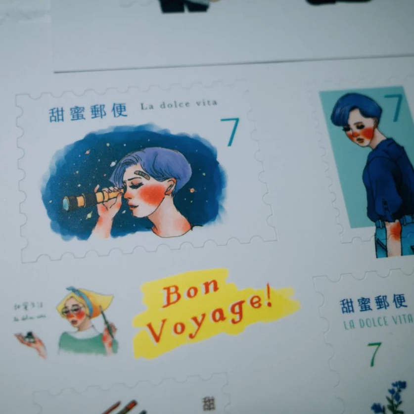 LDV Searching for Aurora Postage Stamp Stickers