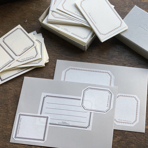 Oeda Letterpress Sticker Set