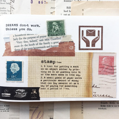 Dictionary Definition Rubber Stamps
