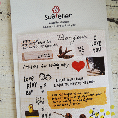 Suatelier Sticker - love to love you