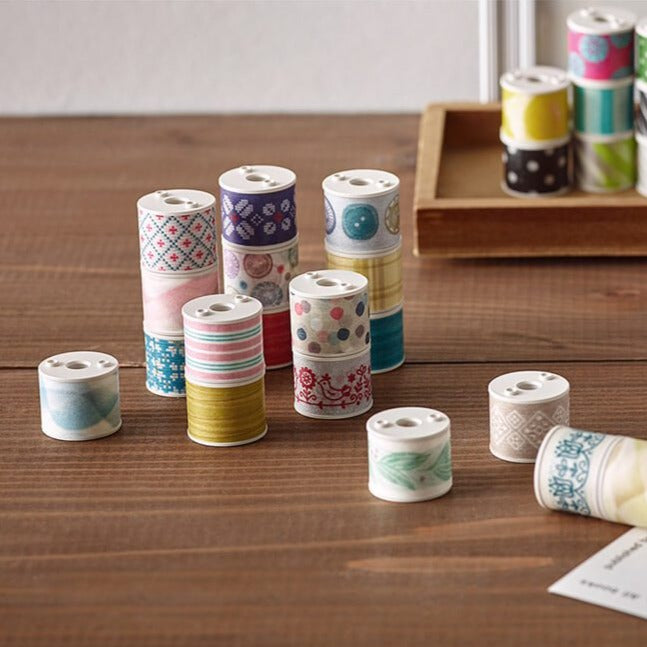 Kokuyo Bobbin: 3 in 1 Masking Tape Set (Linen)