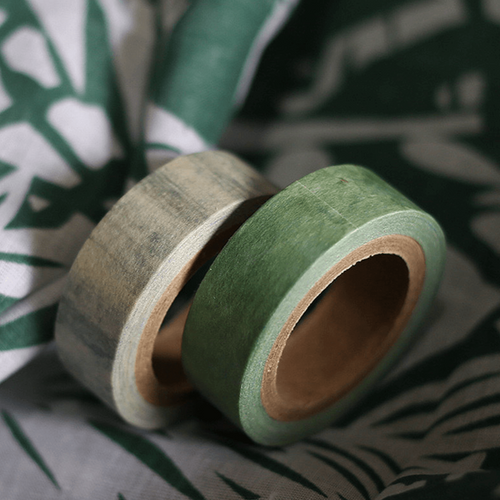 Marble Washi Tape Set - Grey & Green