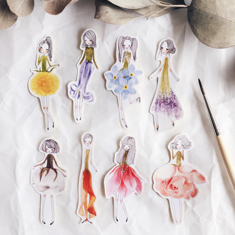 msbulat Flower girls Sticker Pack