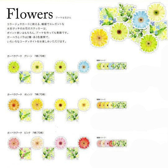Sticker Washi Tapes - African Daisy