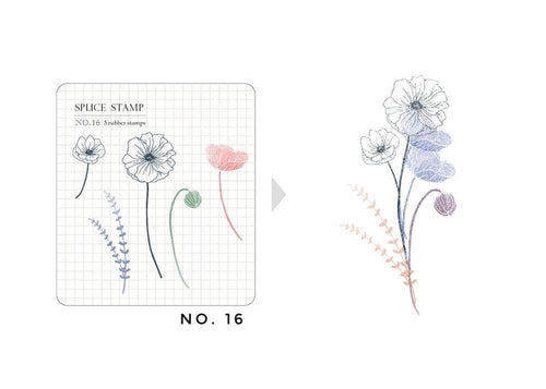 MU Botanical Clear Stamp Set - No. 16