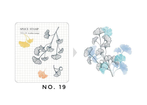 MU Botanical Clear Stamp Set - No. 19